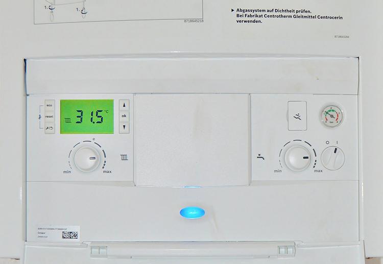 Panel de control de una caldera.